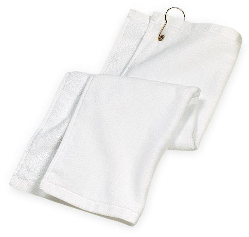 Port Authority® Grommeted Golf Towel.  TW51 (White)