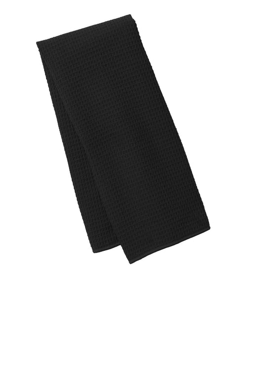 Port Authority® Waffle Microfiber Fitness Towel. TW59 (Black)
