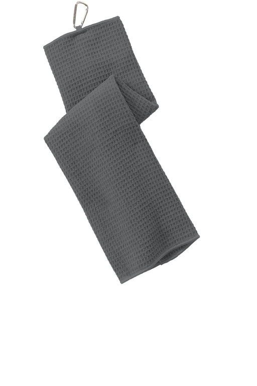 Port Authority® Waffle Microfiber Golf Towel. TW60 (Deep Smoke)
