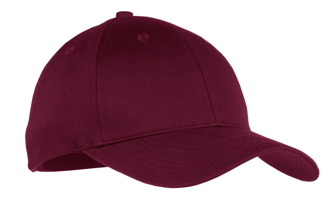 Port & Company®Youth Six-Panel Twill Cap.  YCP80 (Maroon)