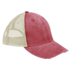 Product image of Nautical Red/Tan Adams Headwear OL102 - Ollie