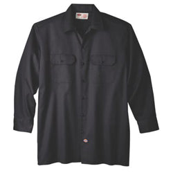 Product image of Black Dickies Occupational 574 - Long Sleeve Original Fit Work Shirt