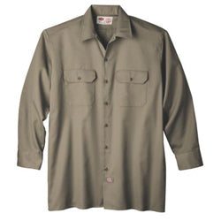 Product image of Khaki Dickies Occupational 574 - Long Sleeve Original Fit Work Shirt