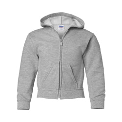 Product image of Sport Grey Gildan 18600B - Heavy Blend Youth  Full Zip Hooded Sweatshirt