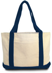 Product image of Natural/Navy Liberty Bags 8869 - Leeward Boat Tote