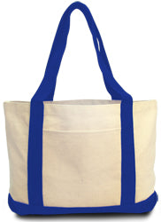 Product image of Natural/Royal Liberty Bags 8869 - Leeward Boat Tote