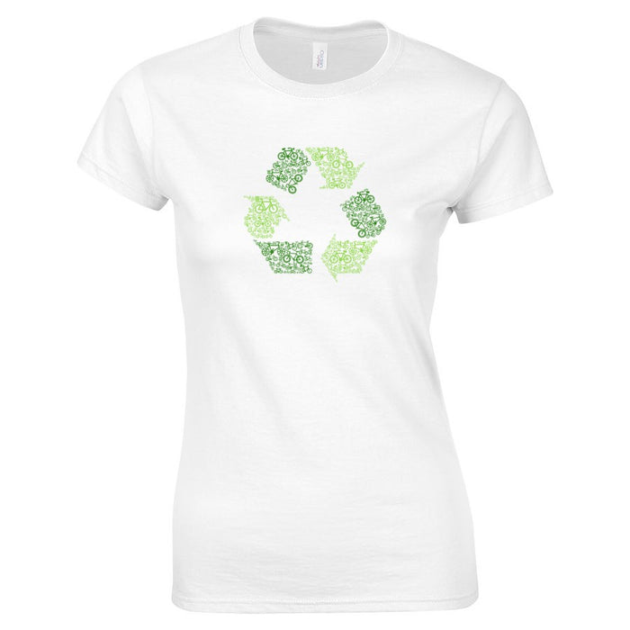 Recycle, Reduce, Reuse Ladies Softstyle Graphic Tee