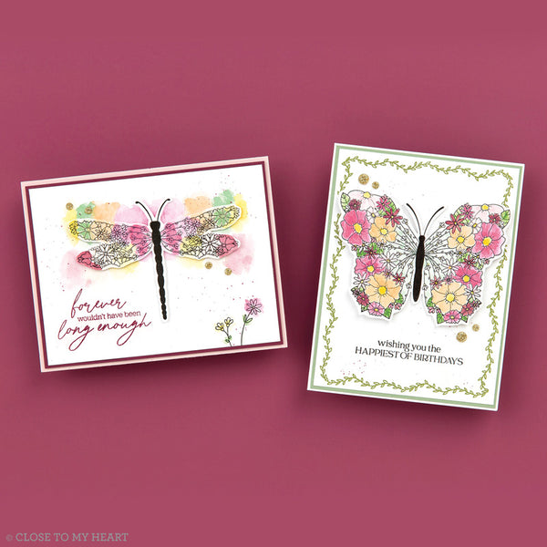 Winged Masterpiece Polymer Stamp Set (S2103) CTMH Close To My Heart Stamp of the Month