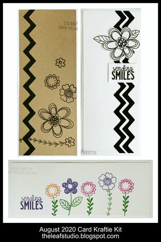 August 2020 Kraftie Kit - Floral Celebration CAS Slimline Cards (With/Without Stamp Set) - Local Pick-Up or Shipped