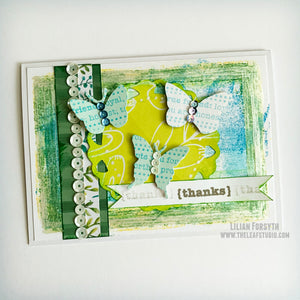 Operation Smile Fundraiser -  Butterfly Trio Mixed Media Card