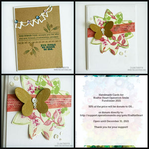 Operation Smile Fundraiser - Spring Kraft Card Set of 2
