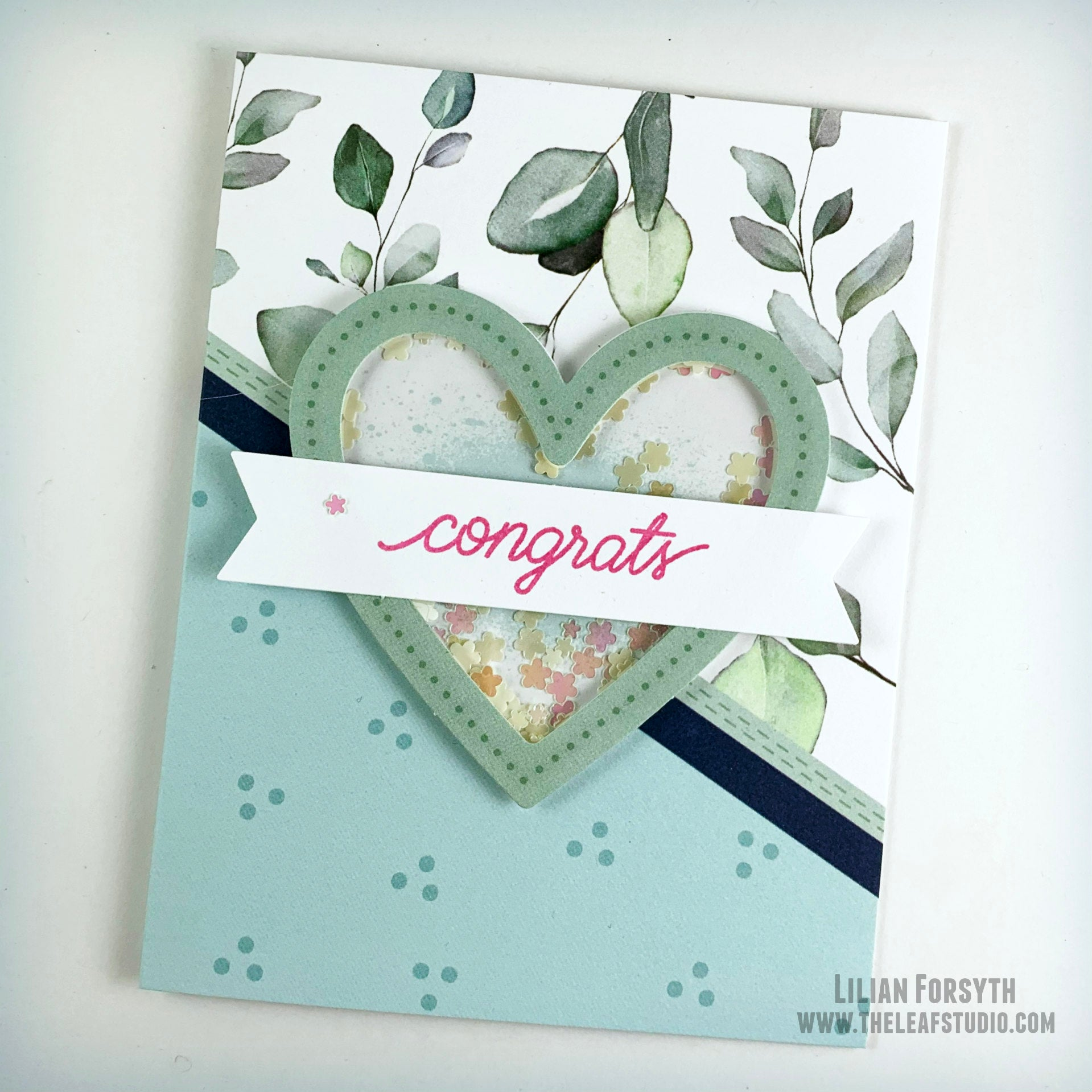 Operation Smile Fundraiser -  Congrats Heart Shaker Card