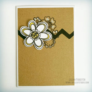 Operation Smile Fundraiser -  Floral Celebration Kraft Card