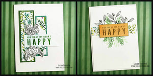 Operation Smile Fundraiser - Happy Floral Card Set of 2