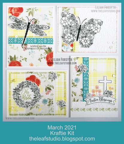 March 2021 Kraftie Kit - Winged Masterpiece + Easter Blessings Cards - Local Pick-Up or Shipped