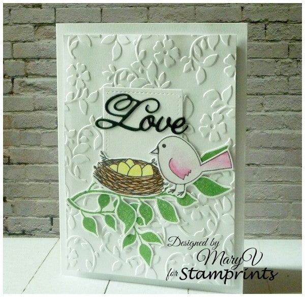 Digital Stamp Set - Bird & Nest MFS-168 (by Stamprints)