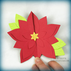 Operation Smile Fundraiser - Poinsettia Fancy Fold 3D Card