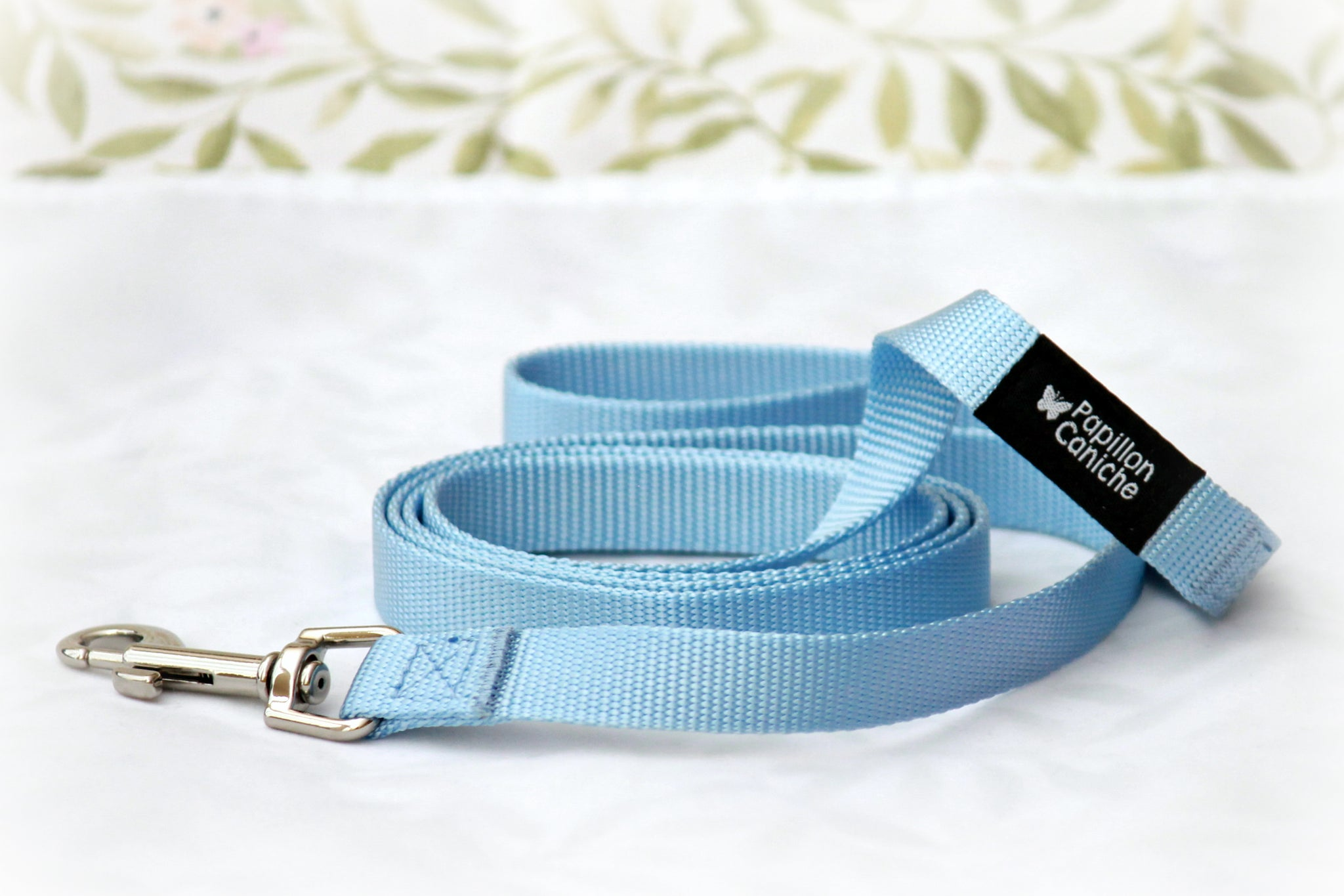 Pack of 10 Skye Blue Nylon Dog Leash by Papillon Caniche