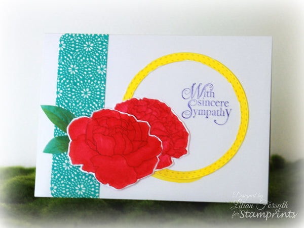 January Flower of the Month - Carnation #2 (TLS-1713) Digital Stamp. Cardmaking