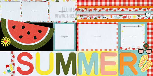 CTMH Summer Vibes Pre-Cut Scrapbooking Kraftie Kit - Shipped
