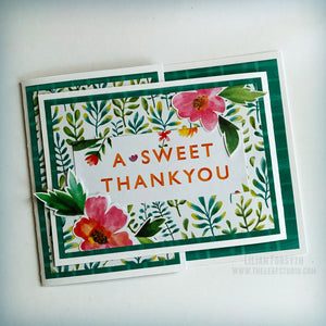 Operation Smile Fundraiser - A Sweet Thank You Fancy Fold Card