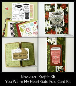 November Kraftie Kit - You Warm My Heart Gate Fold Cards - Local Pick-Up