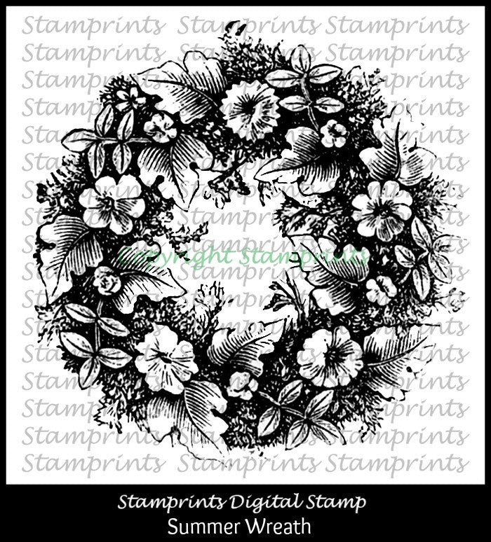 Digital Stamp - Summer Wreath VIS-1612 (Stamprints)