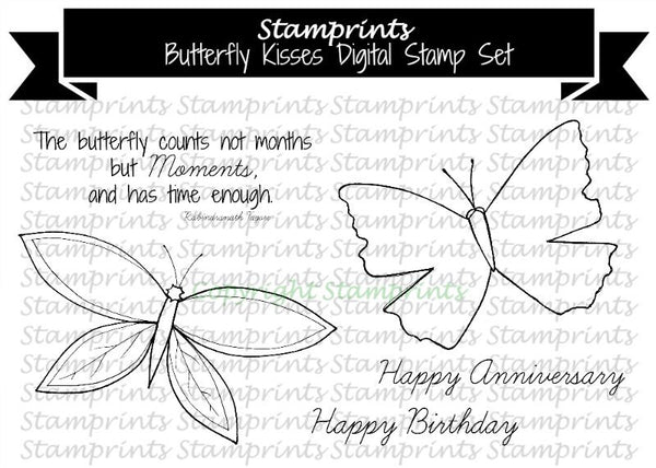 Digital Stamp Set - Butterfly Kisses MFS-1612 (by Stamprints)