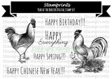 Digital Stamp Set - Year of the Rooster 2017 (by Stamprints)