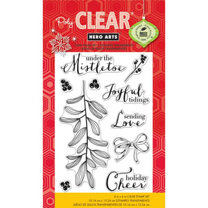 Christmas in July - Hero Arts Photopolymer Stamp Set CL797 Under the Mistletoe