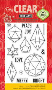 Christmas in July - Hero Arts Photopolymer Stamp Set CL 802 Christmas Crystals