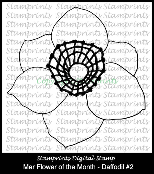 March Flower of the Month - Daffodil #2 (TLS-1729) Digital Stamp.