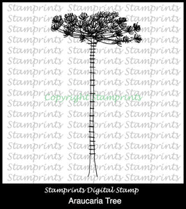 Araucaria Tree (TLS-1816) Digital Stamp. Cardmaking.Scrapbooking