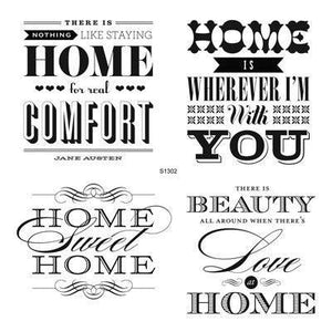 Home Sweet Home S1302 CTMH Close To My Heart Stamp Set