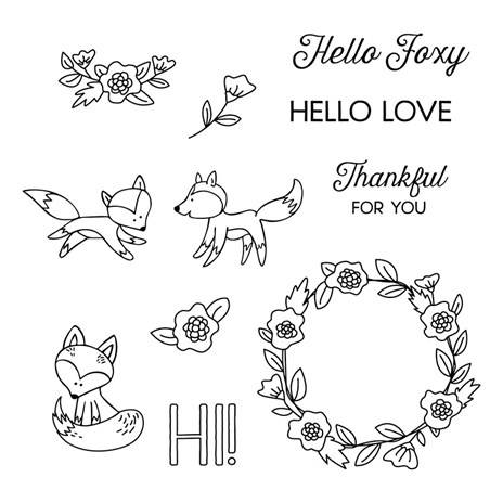 Hello Foxy S1706 CTMH Close To My Heart Stamp Set