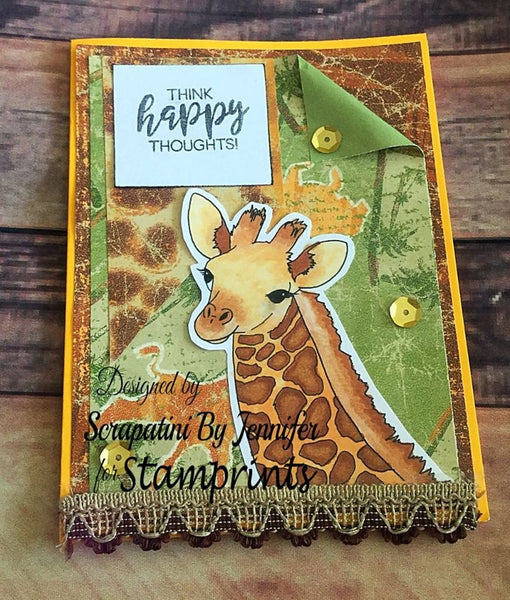 Baby Giraffe (TLS-1812) Digital Stamp. Cardmaking.Scrapbooking