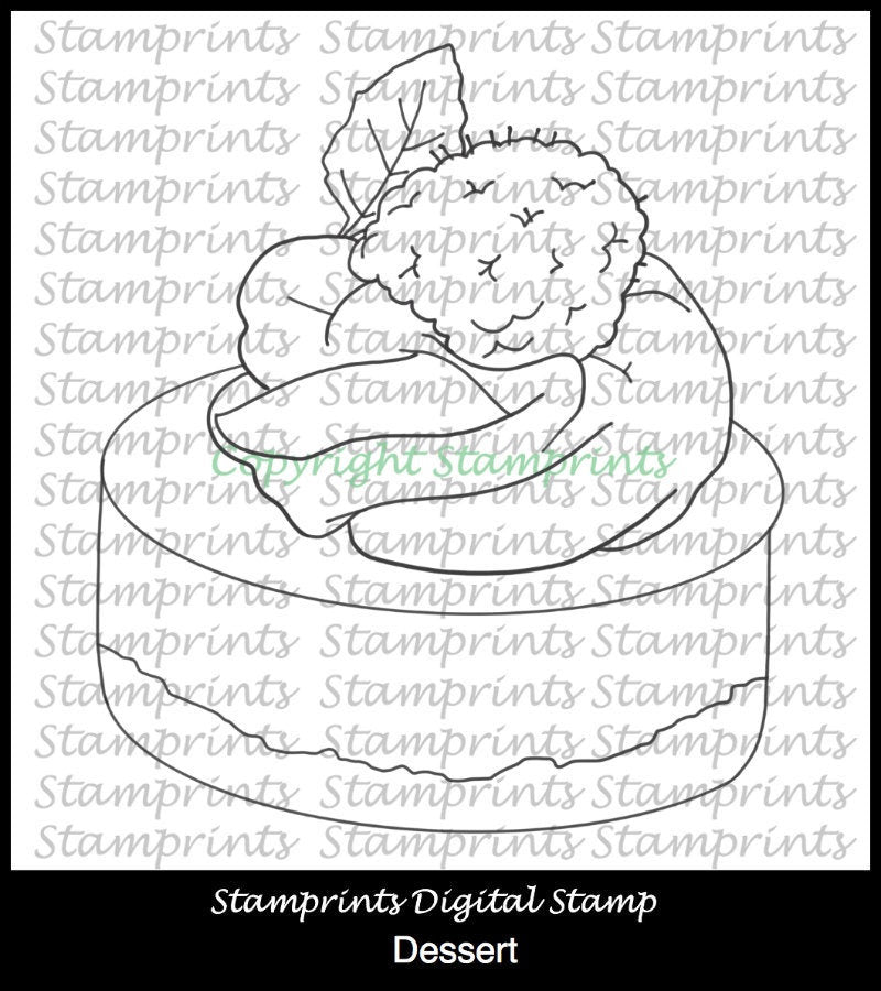 Dessert (TLS-1822) Digital Stamp. Cardmaking.Scrapbooking.