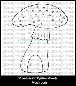 Mushroom TLS-1826 (Digital Stamp Set by Stamprints).Printable.Scrapbooking.