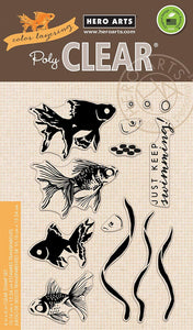 Hero Arts Color Layering Goldfish Stamp Set CL945 Photopolymer Clear Stamps
