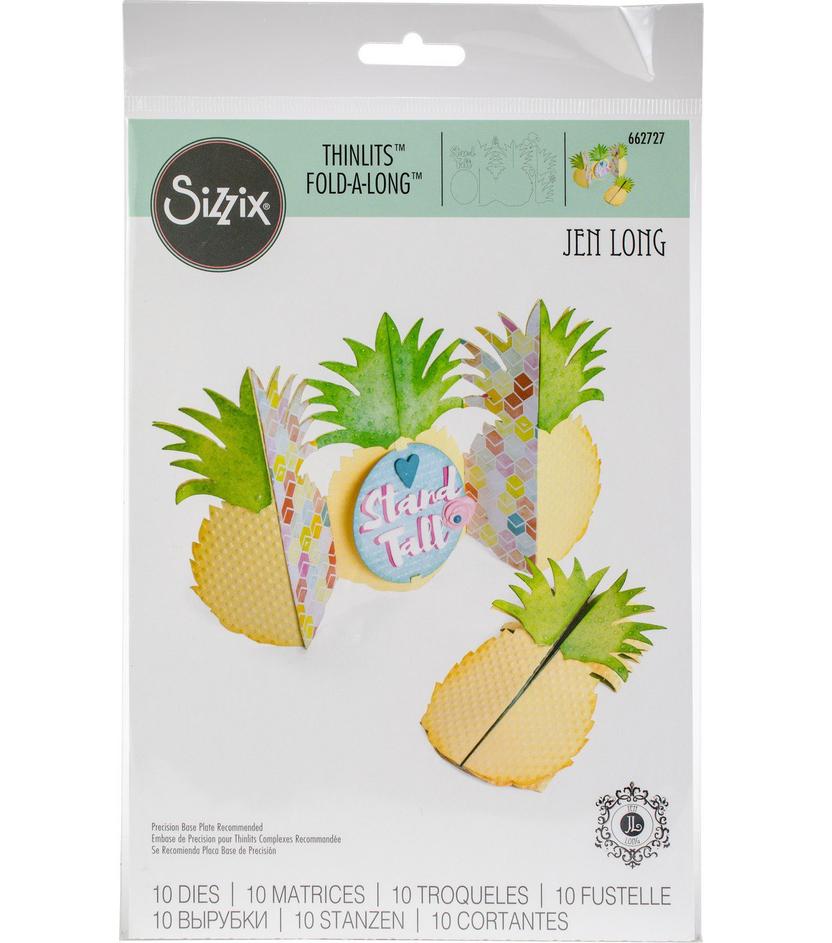 Sizzix Thinlits Die Set (10 pieces) - Card, Pineapple Fold-a-Long Die Cuts