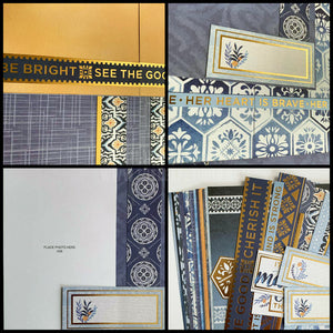 6x6 DIY Scrapbook Kit or Pre-Made (With or Without Album) - Be Fearless Mini Album (20 pages) | The Leaf Studio