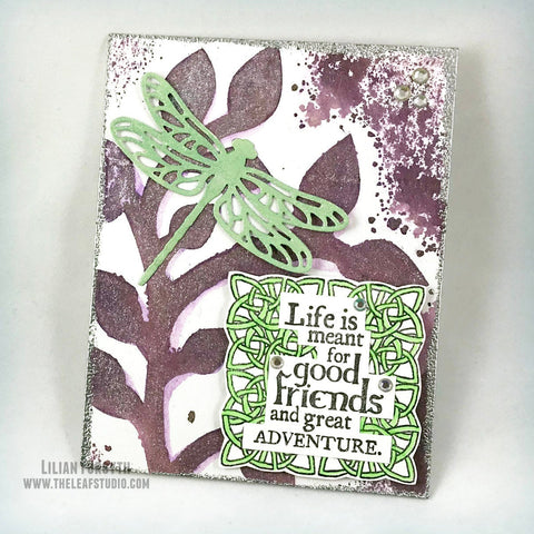 Fancy Fold Dragonfly Handmade Easel Card Pop Up 3D | The Leaf Studio