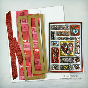 DIY Card Kit - Valentine's Day/Wedding/Love/Anniversary Cards - FREE Shipping | The Leaf Studio