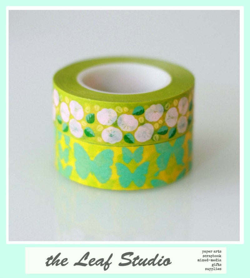 Washi Tape Set of 2 Fun Tape Butterfly Kisses