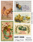 Digital Collage Sheet - Chickie Easter CS-02 (by Stamprints). Printable Vintage Images. Original Designs. Paper Crafts. Altered Art