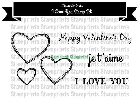 Digital Stamp Set - I Love You MFS-163 (by Stamprints)