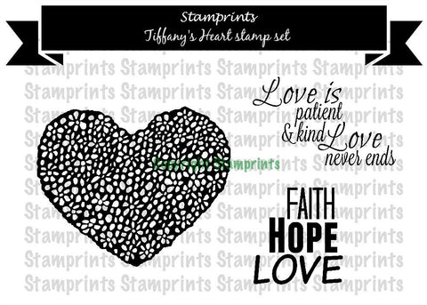 Digital Stamp Set - Tiffany's Heart (by Stamprints)
