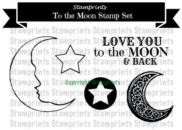 Digital Stamp Set - To The Moon (by Stamprints)