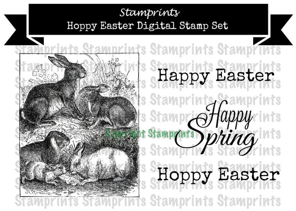 Digital Stamp Set - Hoppy Easter (by Stamprints)