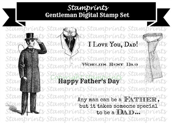 Digital Stamp Set - Gentleman (by Stamprints)